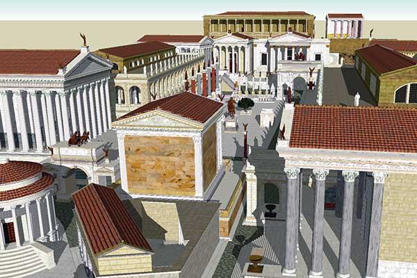 Como era el Foro Romano antiguamente